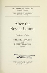 Cover of: After the Soviet Union |