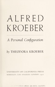 Cover of: Alfred Kroeber