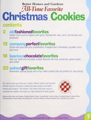 Cover of: Better homes and gardens all-time favorite Christmas cookies