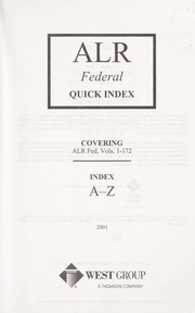 Cover of: ALR federal quick index