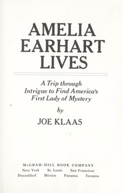 Cover of: Amelia Earhart lives | Joe Klaas