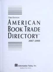 Cover of: American book trade directory, 2007-2008