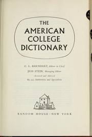 Cover of: American college dictionary.