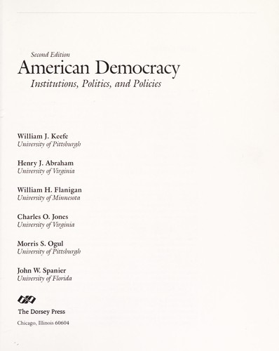 American democracy by William J. Keefe ... [et al.].