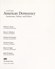 Cover of: American democracy | William J. Keefe ... [et al.].