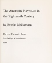 Cover of: The American playhouse in the eighteenth century | Brooks McNamara