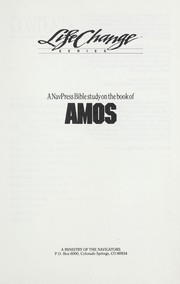 Cover of: A NavPress Bible study on the book of Amos