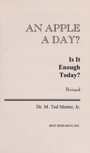 Cover of: An apple a day?: Is it enough today?