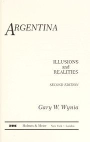 Cover of: Argentina | Gary W. Wynia