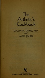 Cover of: The Arthritic's Cookbook