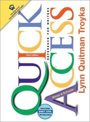 Cover of: Quick Access Updates with 2001 APA Guidelines (3rd Edition) | Lynn Quitman Troyka