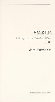 Cover of: Backup