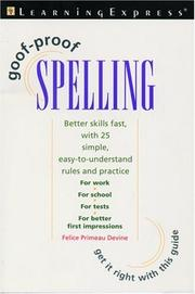 Cover of: Goof-proof spelling