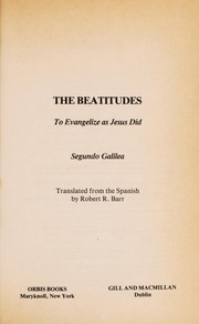 Cover of: The Beatitudes | Segundo Galilea