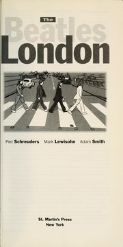 Cover of: The Beatles London | Piet Schreuders