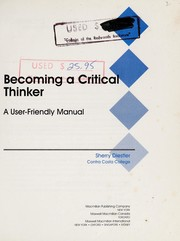 Cover of: Becoming a critical thinker | Sherry Diestler
