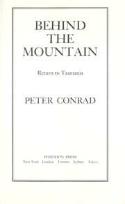 Cover of: Behind the Mountain | Peter Conrad