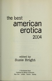Cover of: The Best American Erotica 2004