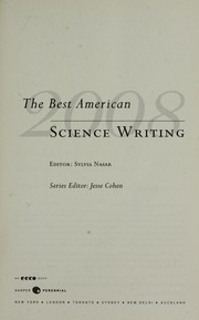 Cover of: The best American science writing, 2008