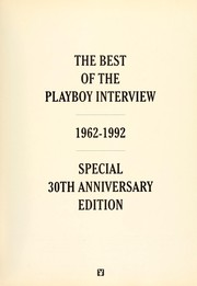 Cover of: The Playboy Interview