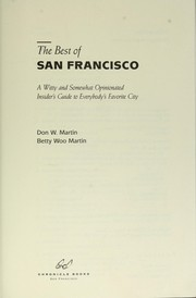 Cover of: Best of San Francisco | D. Martin