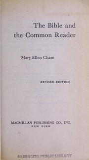 Cover of: The Bible and the common reader