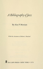 Cover of: A bibliography of jazz