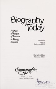 Cover of: Biography today | Cherie D. Abbey