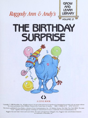 The Birthday Surprise (Raggedy Ann and Andy's, Volume 17) by