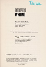 Cover of: Business Writing | J. Reed