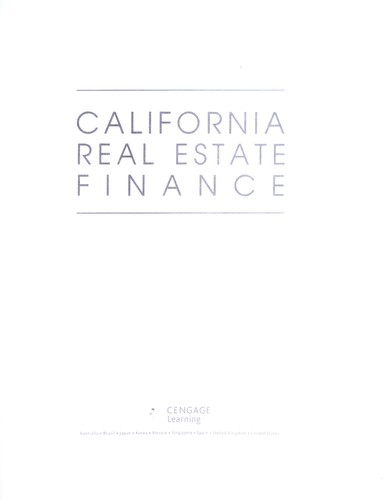 California real estate finance by