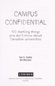 Cover of: Campus confidential