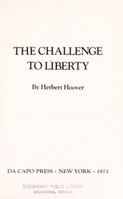 Cover of: The challenge to liberty