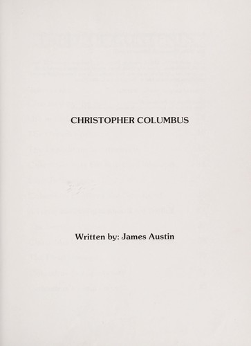 Christopher Columbus by James Austin