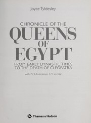 Cover of: Chronicles of the queens of Egypt | Joyce A Tyldesley