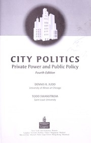 Cover of: City politics : private power and public policy | Judd, Dennis R