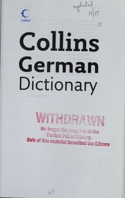 Collins beginners German dictionary