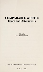Cover of: Comparable worth