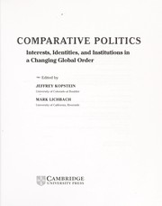 Cover of: Comparative politics |