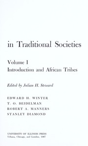 Cover of: Contemporary change in traditional societies