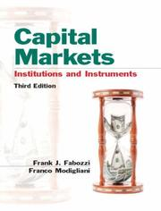 Cover of: Capital Markets | Frank J. Fabozzi