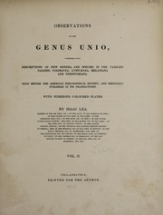 Cover of: Observations on the genus Unio