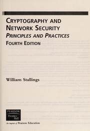 Cover of: Cryptography and network security | William Stallings