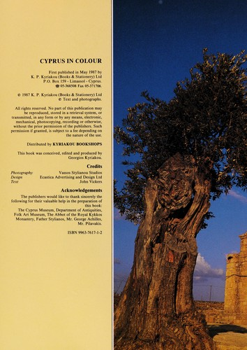 Cyprus in colour by John A. Vickers