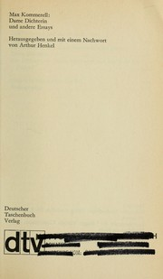 Cover of: Dame Dichterin und andere Essays