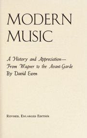 Cover of: David Ewen introduces modern music | David Ewen