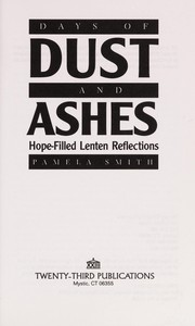 Cover of: Days of dust and ashes
