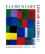Cover of: Elementary linear algebra