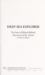 Cover of: Deep-sea explorer | Rick Archbold