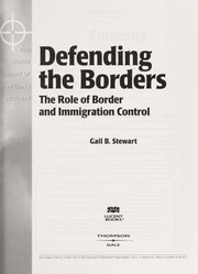 Cover of: Defending the borders | Gail B. Stewart